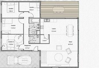 maison de 115 m - Plan Maison Conteneur