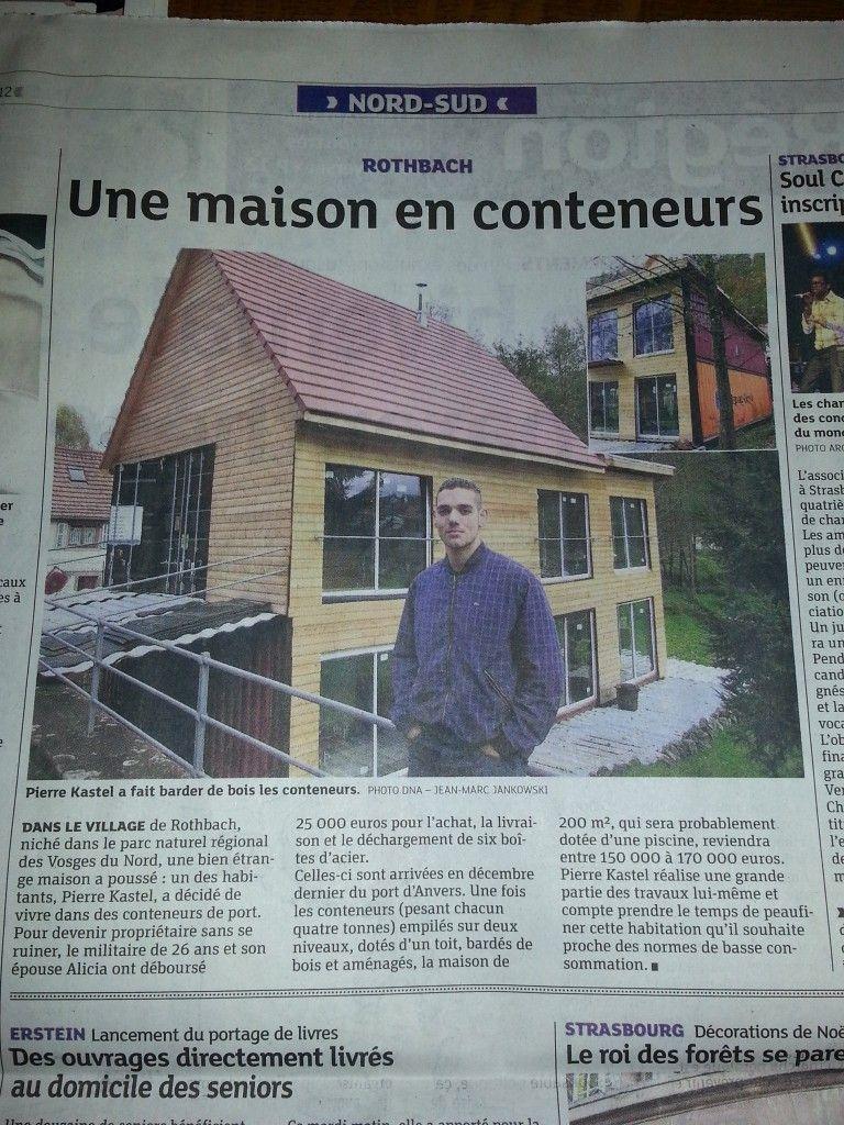 Auto construction d 39 une maison conteneur rothbach maison container - Vivre dans un conteneur ...