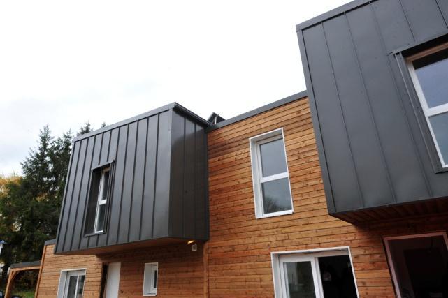 Sp cificit maison container construction rapide modulable for Type de revetement exterieur maison