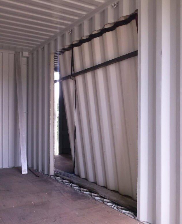 D coupe du container portes et fen tres de la maison - La maison container ...