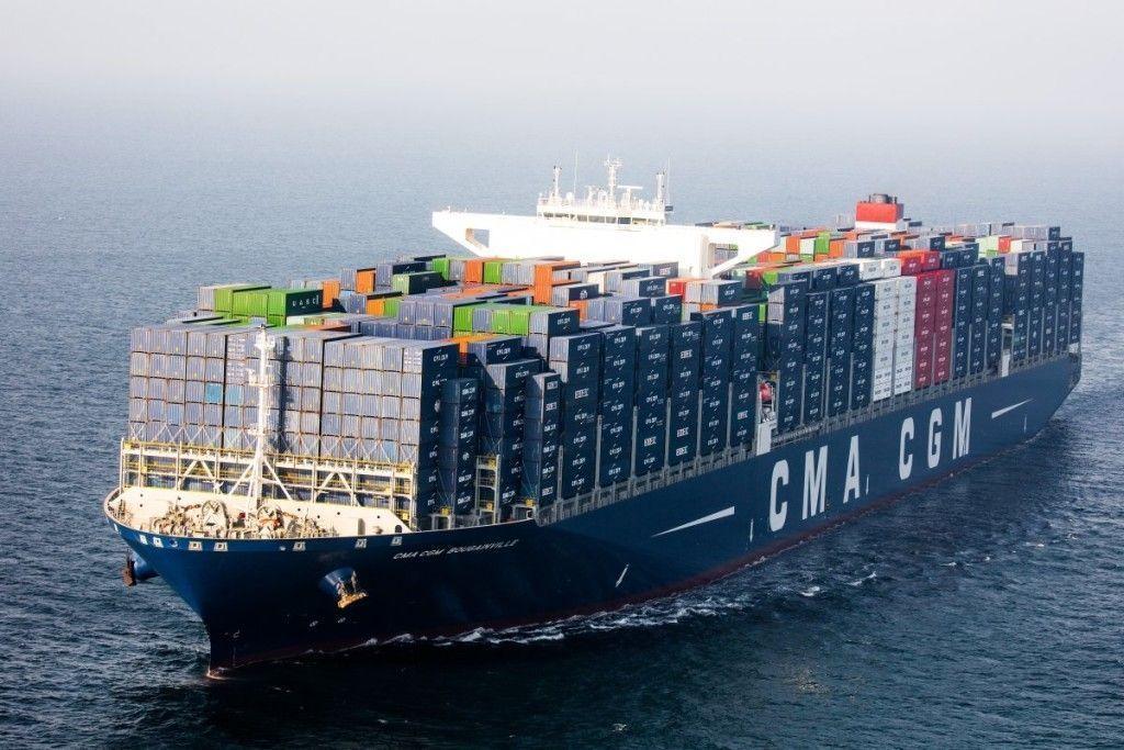 Bougainville le plus grand porte container fran ais for Porte conteneur