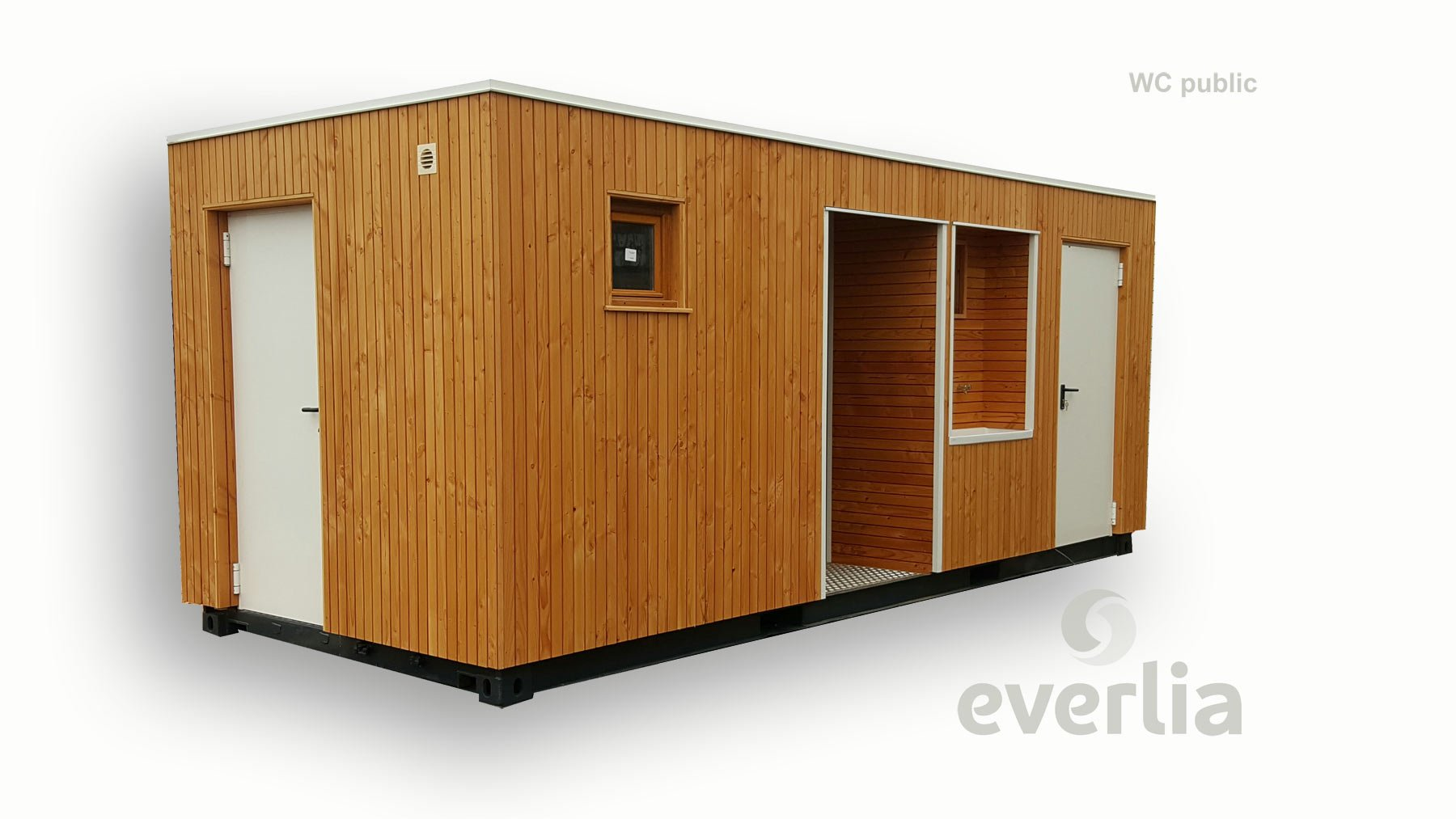 Collectivit s locales wc container vestiaires douches maison container - Construire en container ...